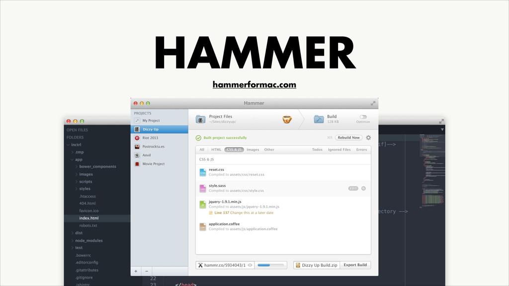 HAMMER hammerformac.com
