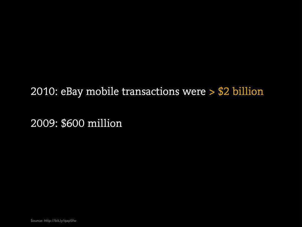 Source: http://bit.ly/qap5fw 2010: eBay mobile ...