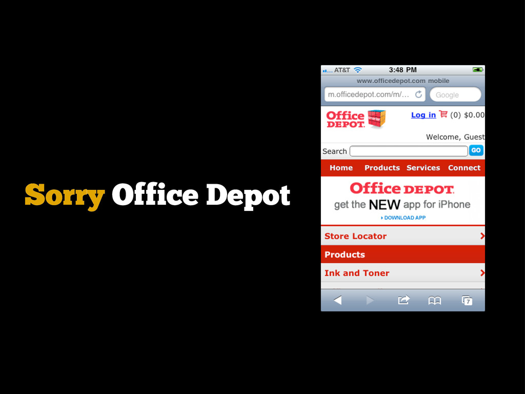 Sorry Office Depot