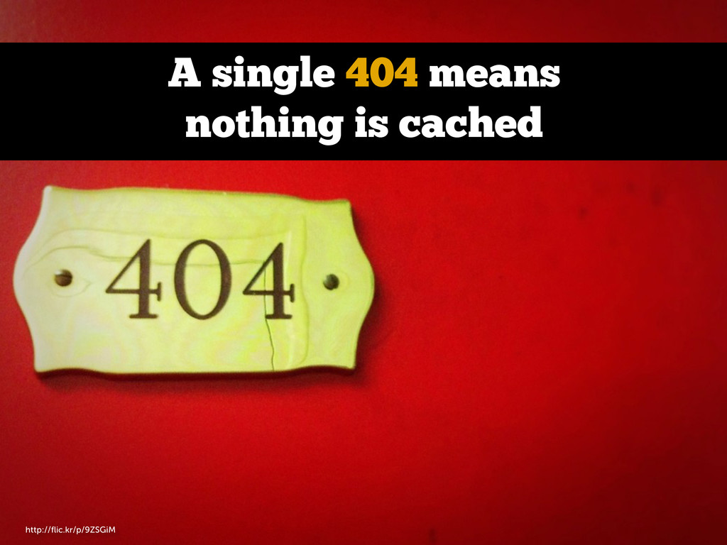 A single 404 means nothing is cached http://flic...