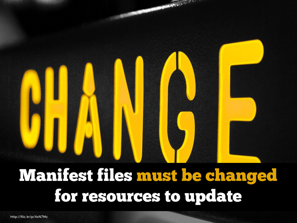 Manifest files must be changed for resources to...