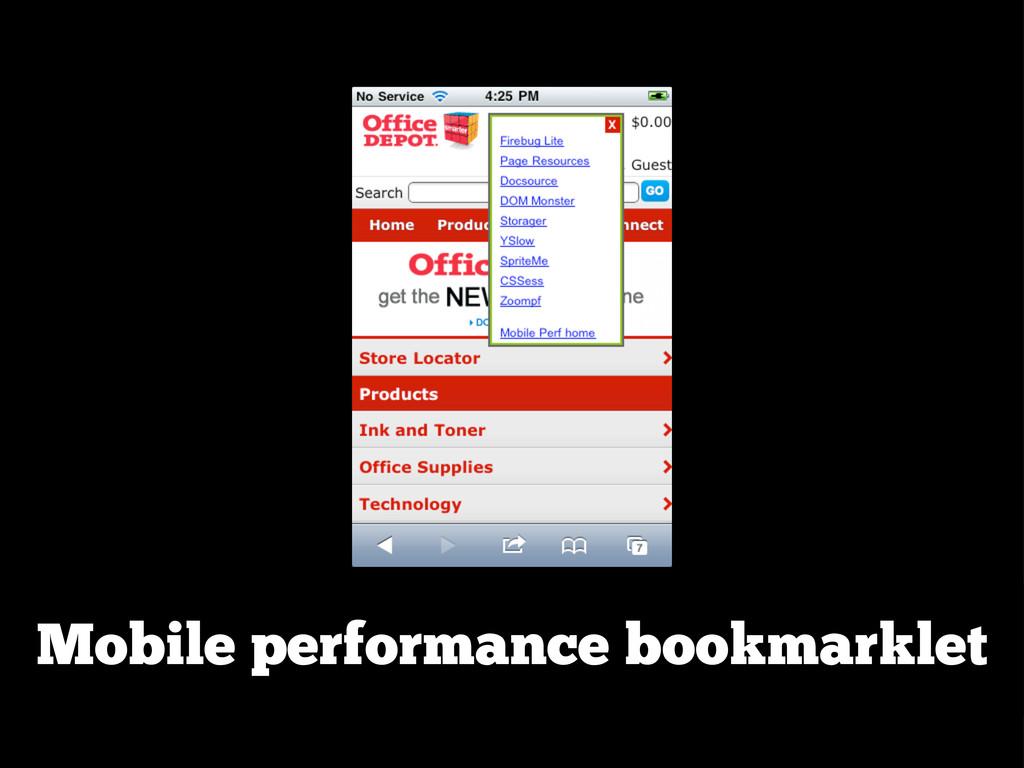 Mobile performance bookmarklet