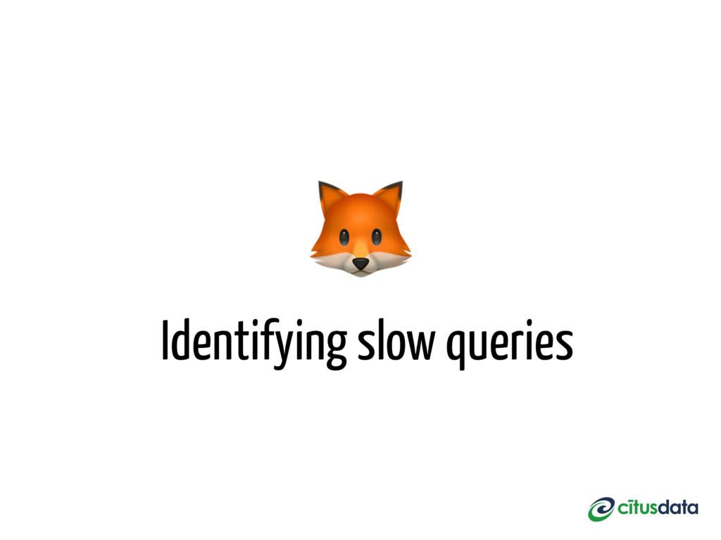 Identifying slow queries