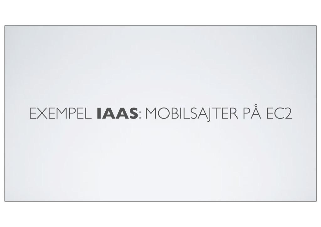 EXEMPEL IAAS: MOBILSAJTER PÅ EC2