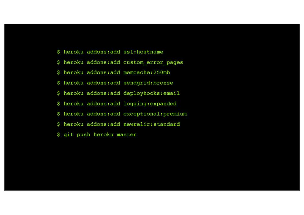 $ heroku addons:add ssl:hostname $ heroku addon...