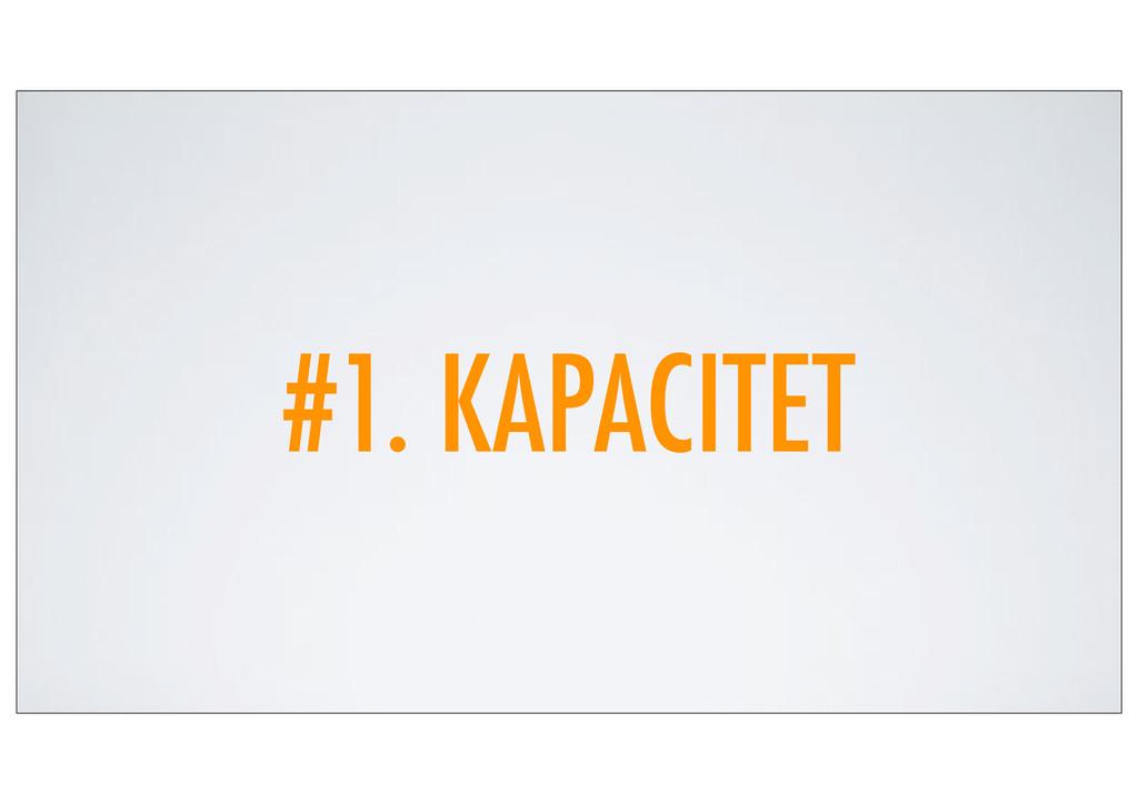#1. KAPACITET