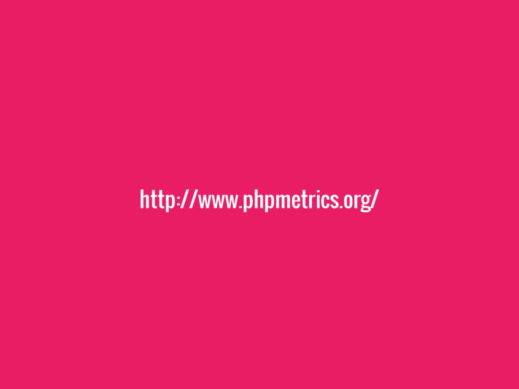 http://www.phpmetrics.org/