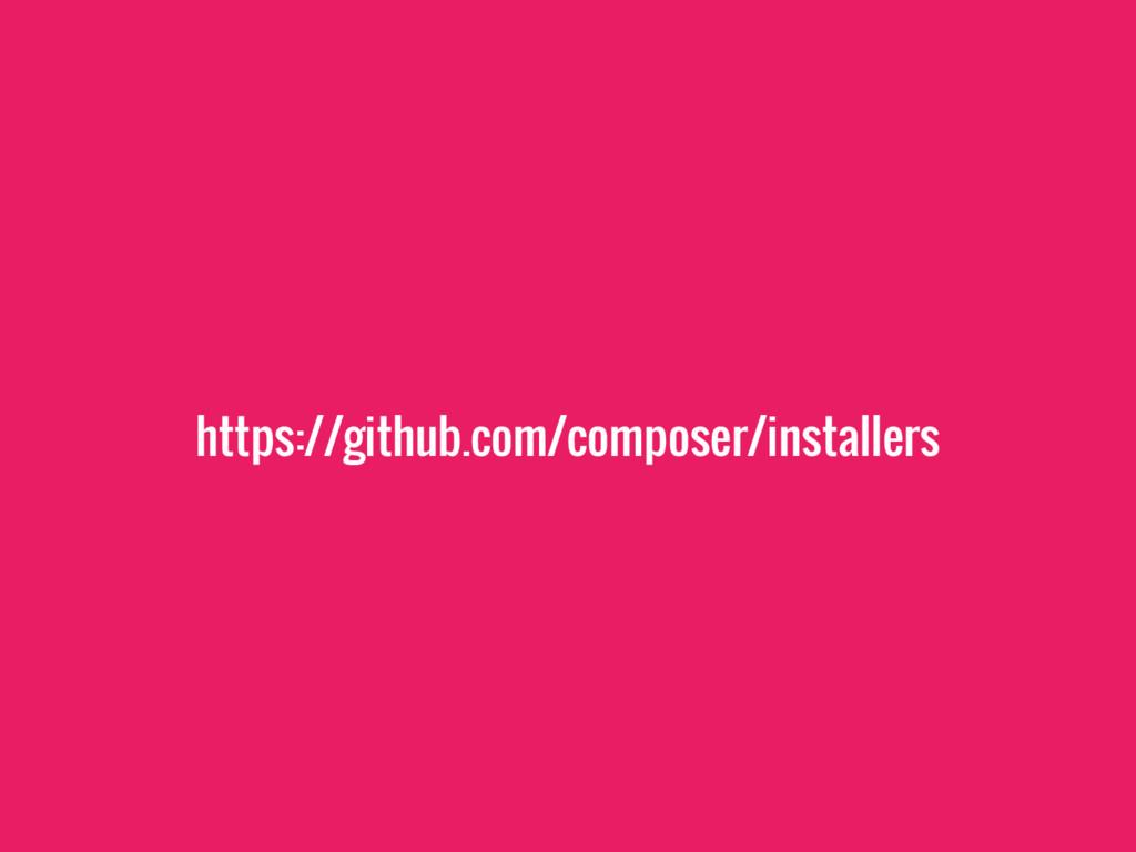 https://github.com/composer/installers