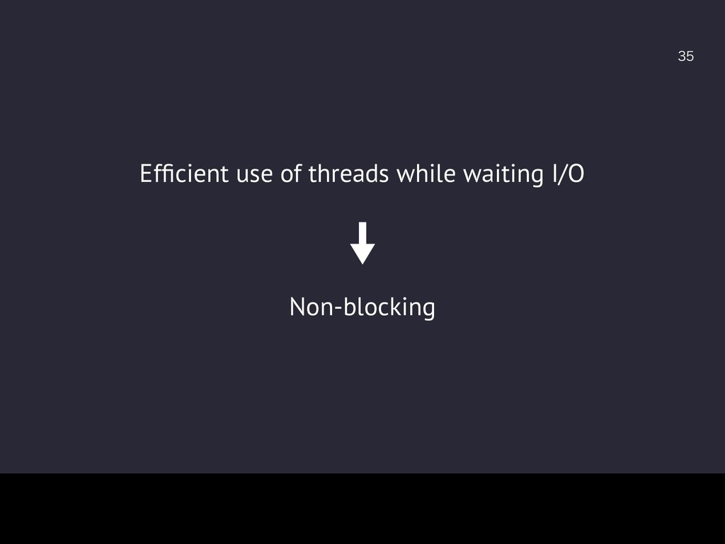 Non-blocking Efficient use of threads while w...