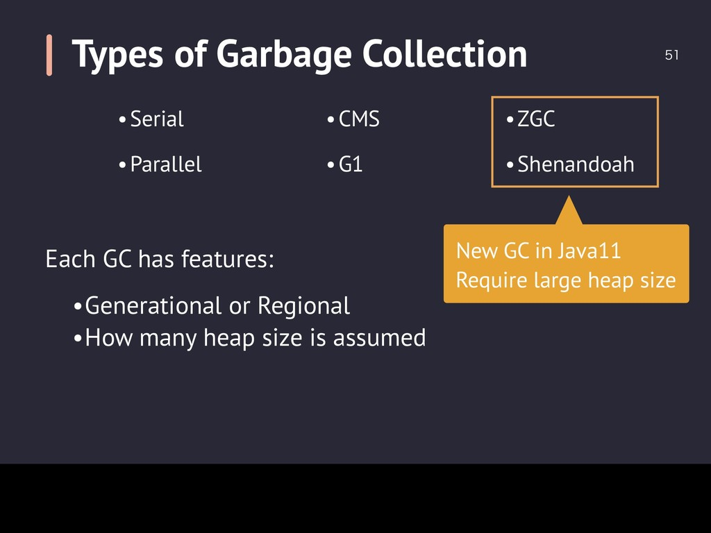 Types of Garbage Collection  New GC in Java11...