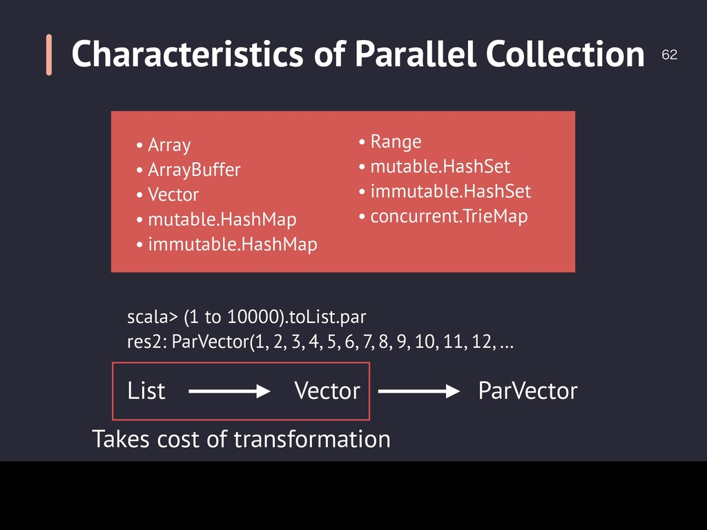 Characteristics of Parallel Collection  • Arr...