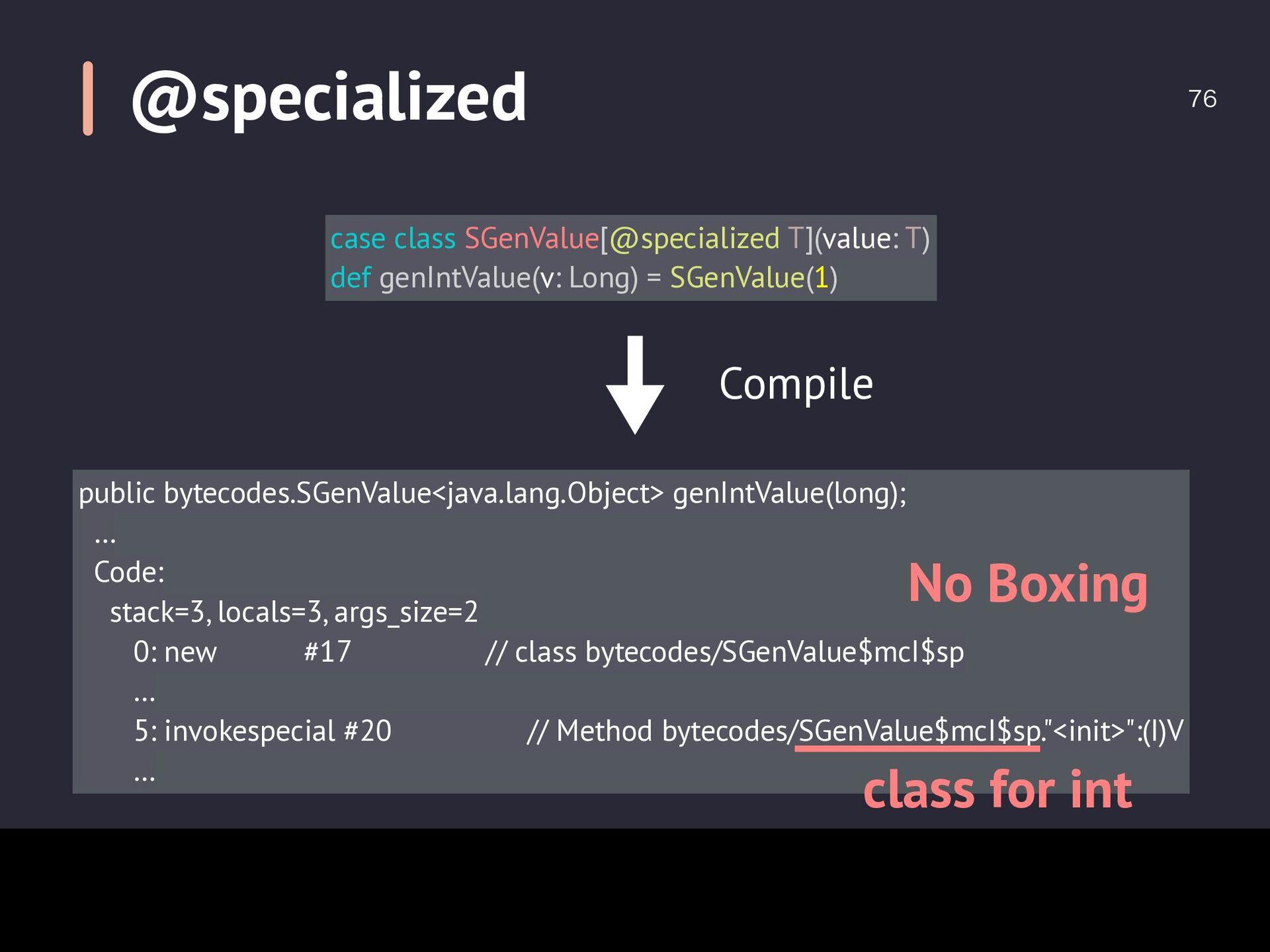 Comparison of Object Size  case class GenValu...