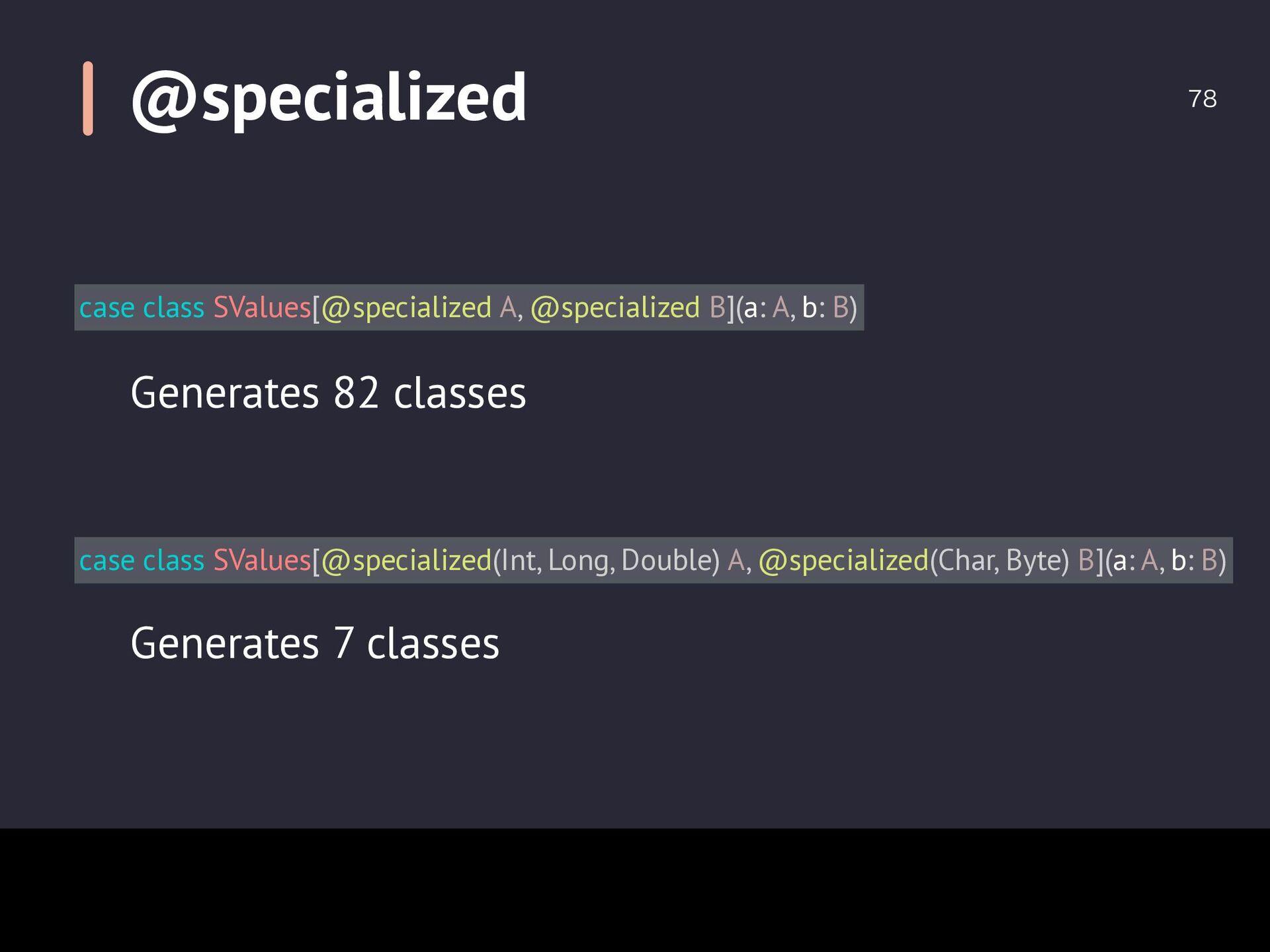 Tuple vs Case Class  case class Bar(value: In...