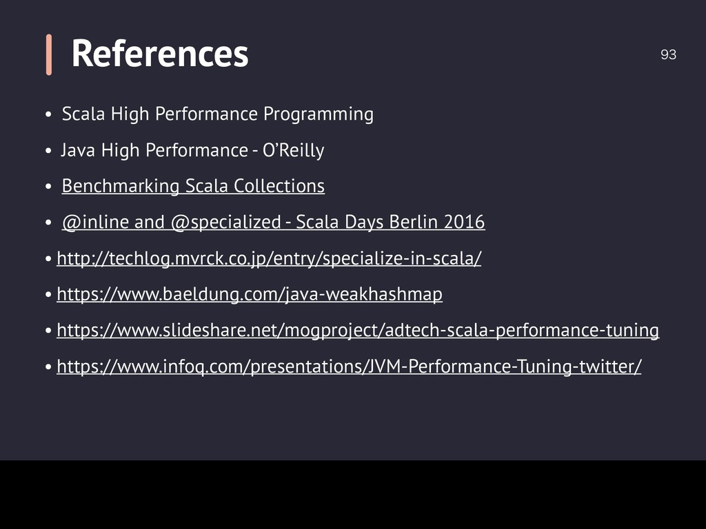 References  • Scala High Performance Programm...