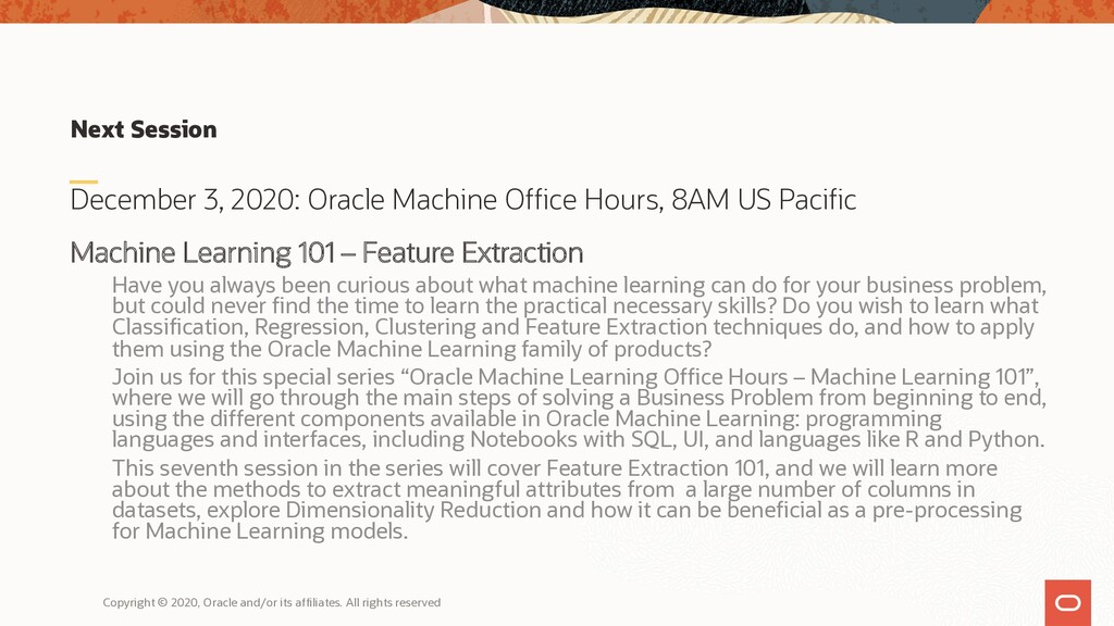 Next Session December 3, 2020: Oracle Machine O...
