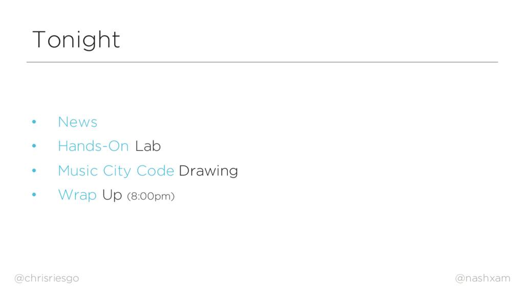 @nashxam Tonight • News • Hands-On Lab • Music ...