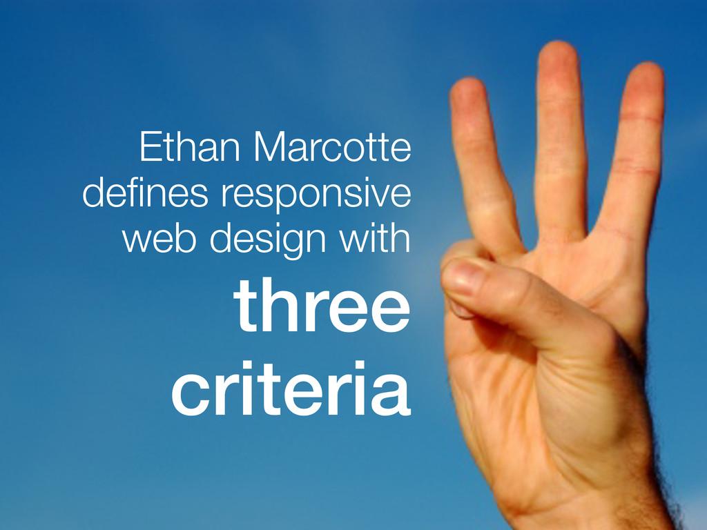 Ethan Marcotte defines responsive web design wit...