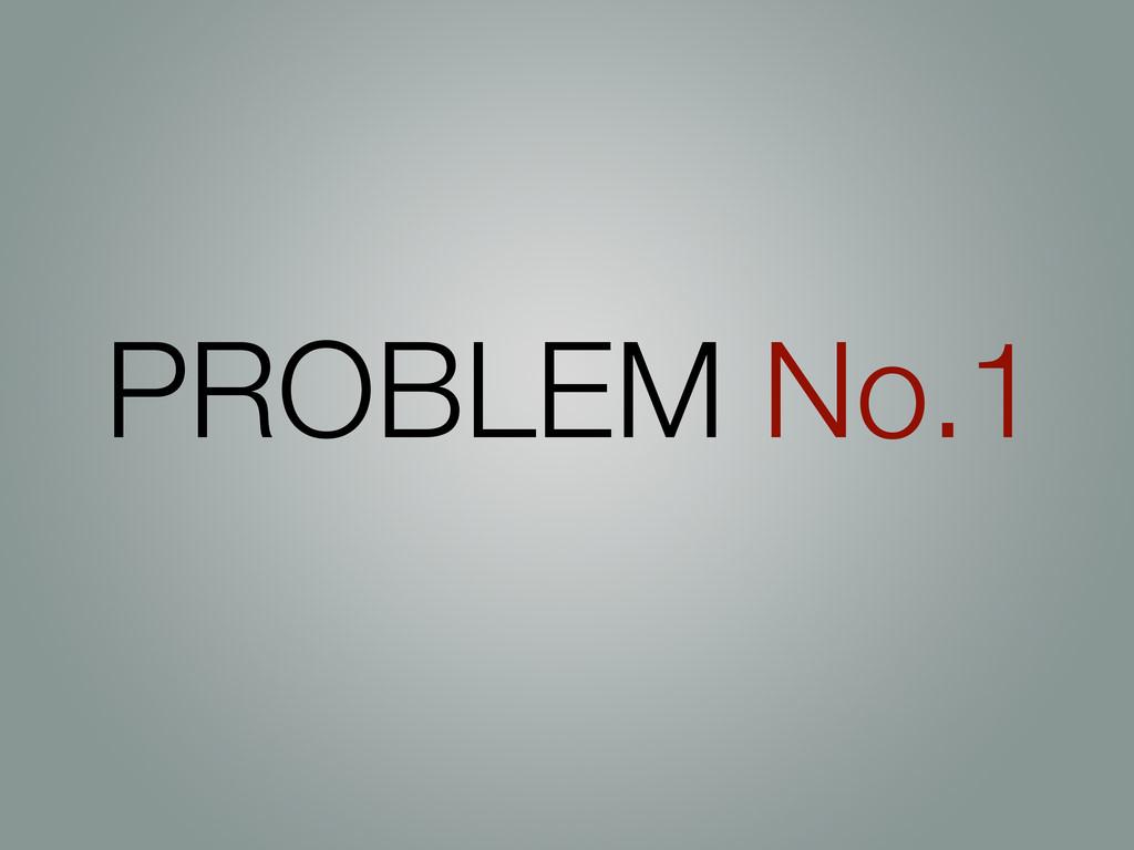 PROBLEM No.1