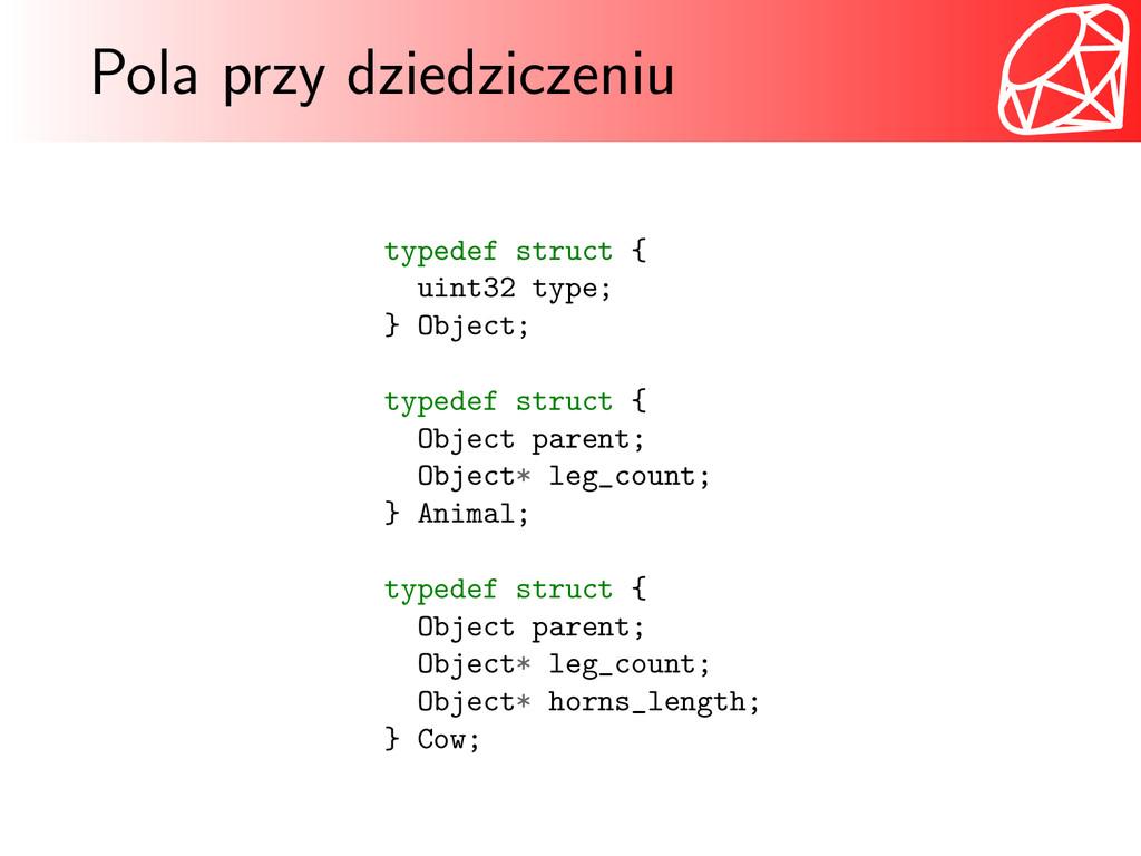 Pola przy dziedziczeniu typedef struct { uint32...