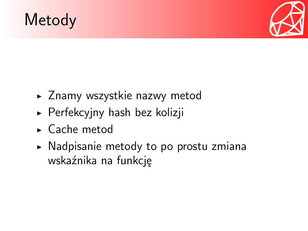 Metody Znamy wszystkie nazwy metod Perfekcyjny ...