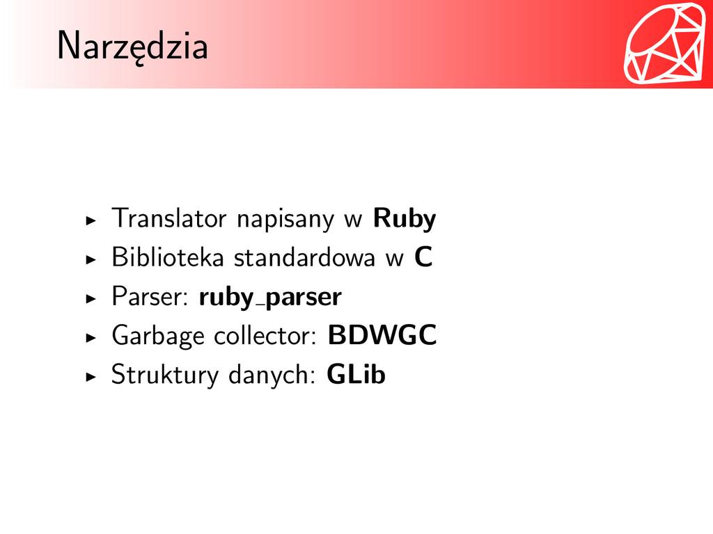 Narzędzia Translator napisany w Ruby Biblioteka...
