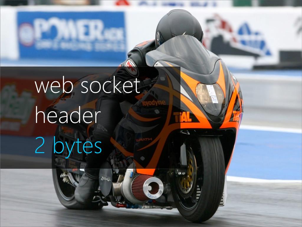 1.197 bytes de header web socket header 2 bytes