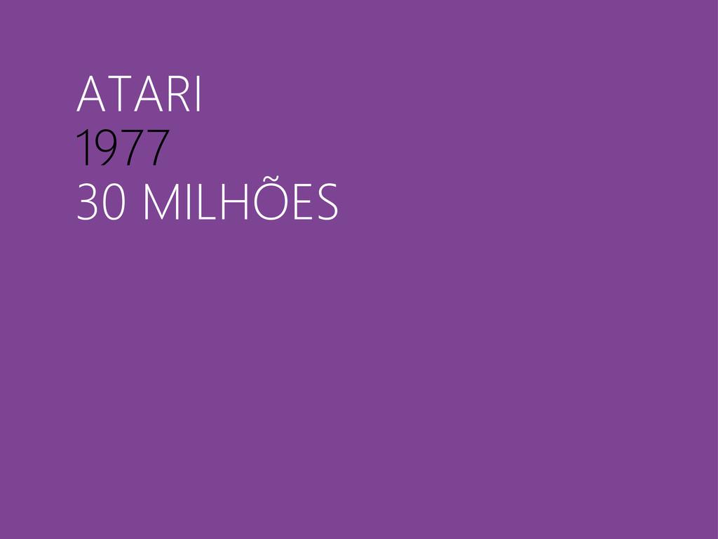 ATARI 1977 30 MILHÕES