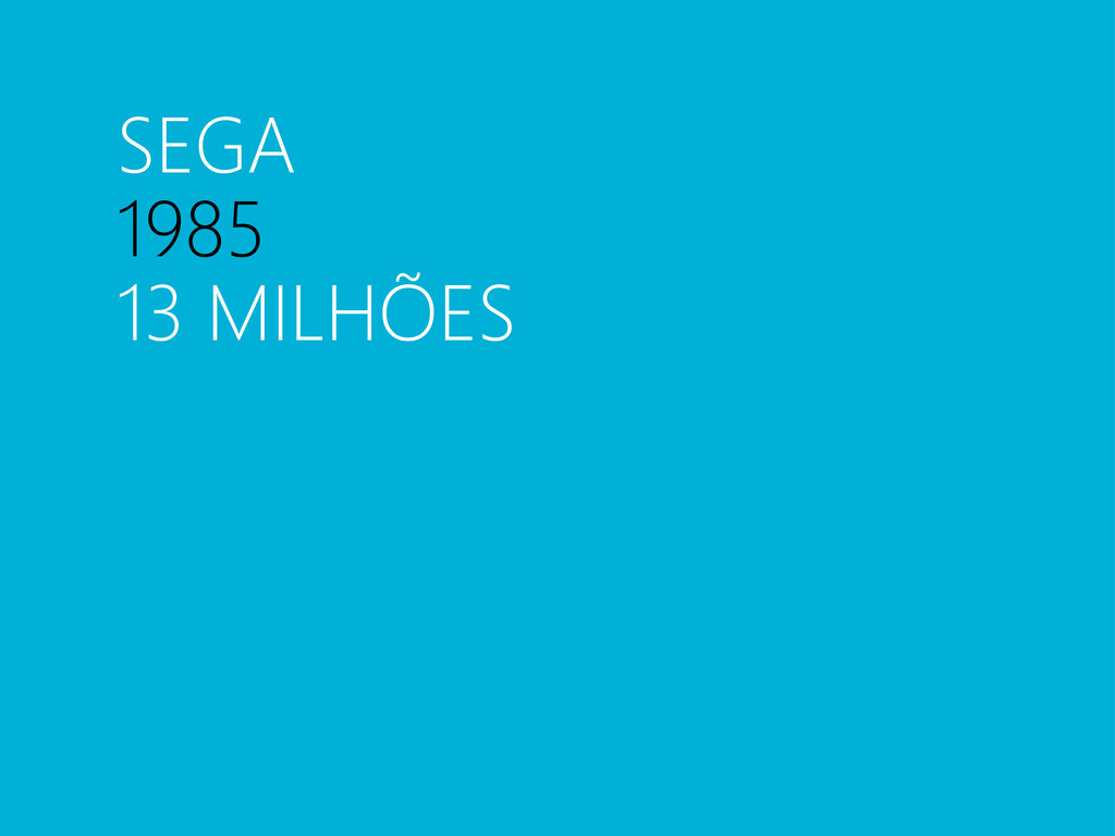 SEGA 1985 13 MILHÕES