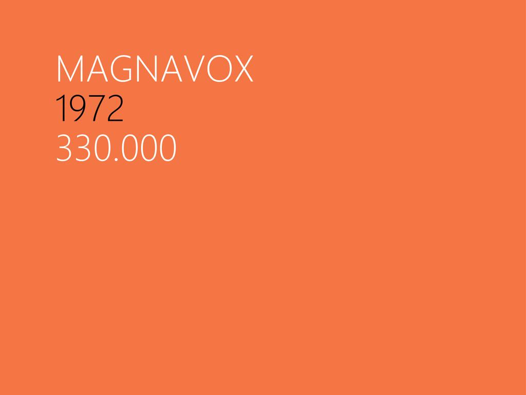 MAGNAVOX 1972 330.000