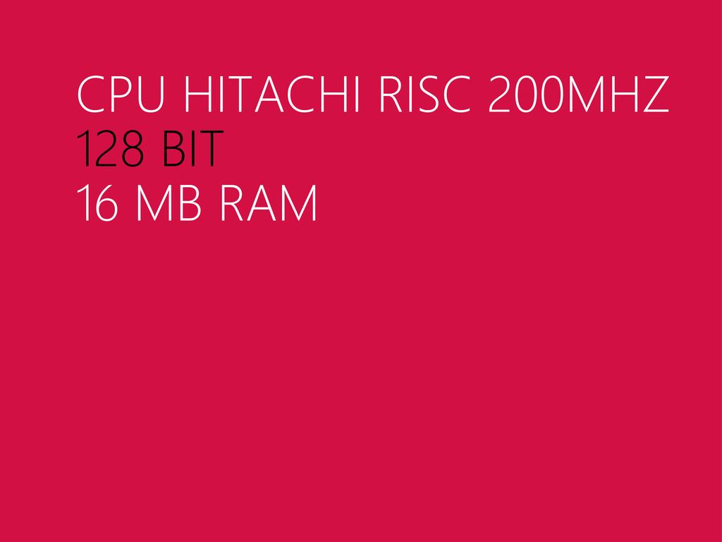 CPU HITACHI RISC 200MHZ 128 BIT 16 MB RAM