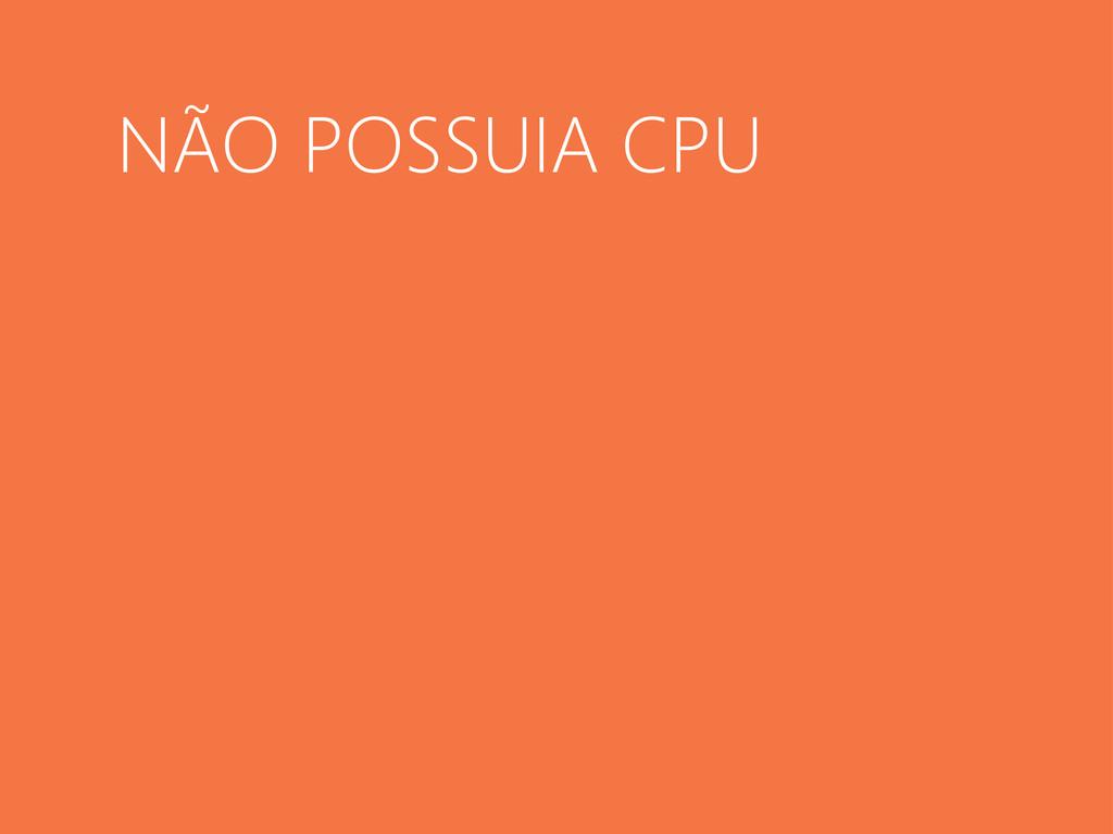 NÃO POSSUIA CPU