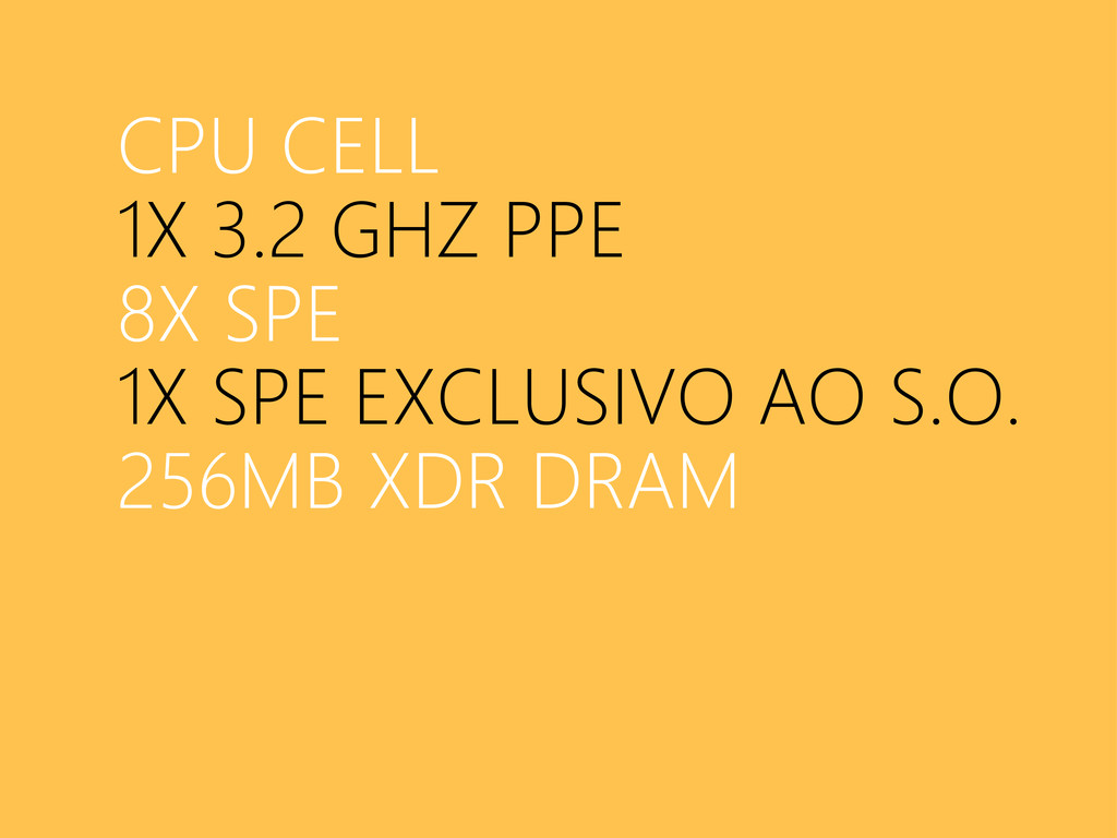 CPU CELL 1X 3.2 GHZ PPE 8X SPE 1X SPE EXCLUSIVO...