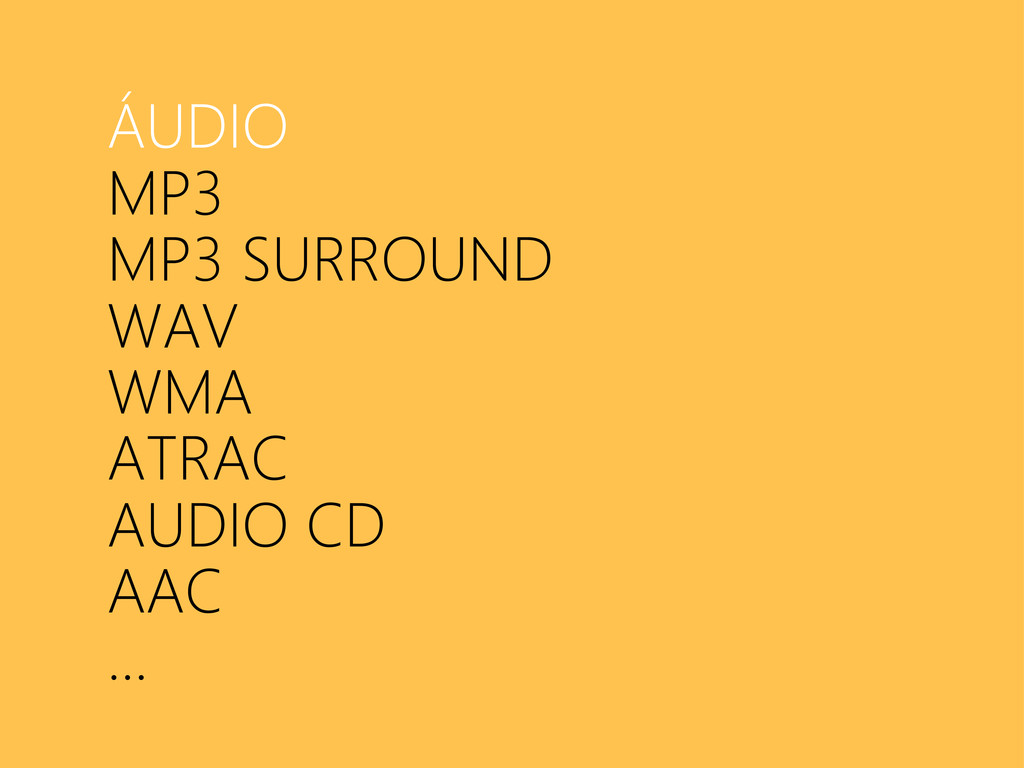 ÁUDIO MP3 MP3 SURROUND WAV WMA ATRAC AUDIO CD A...
