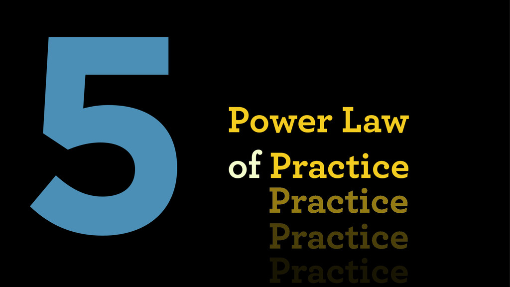 5Power Law  of Practice Practice Practice Prac...