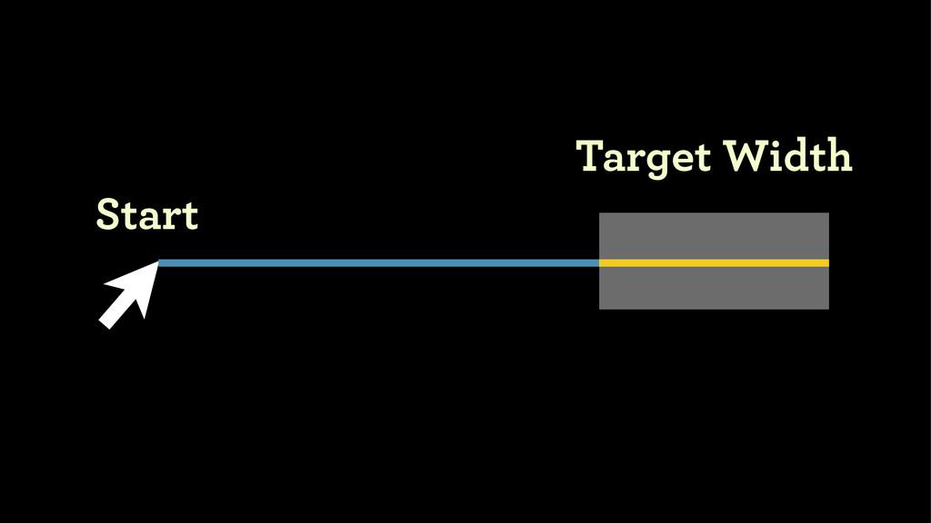 Target Width Start