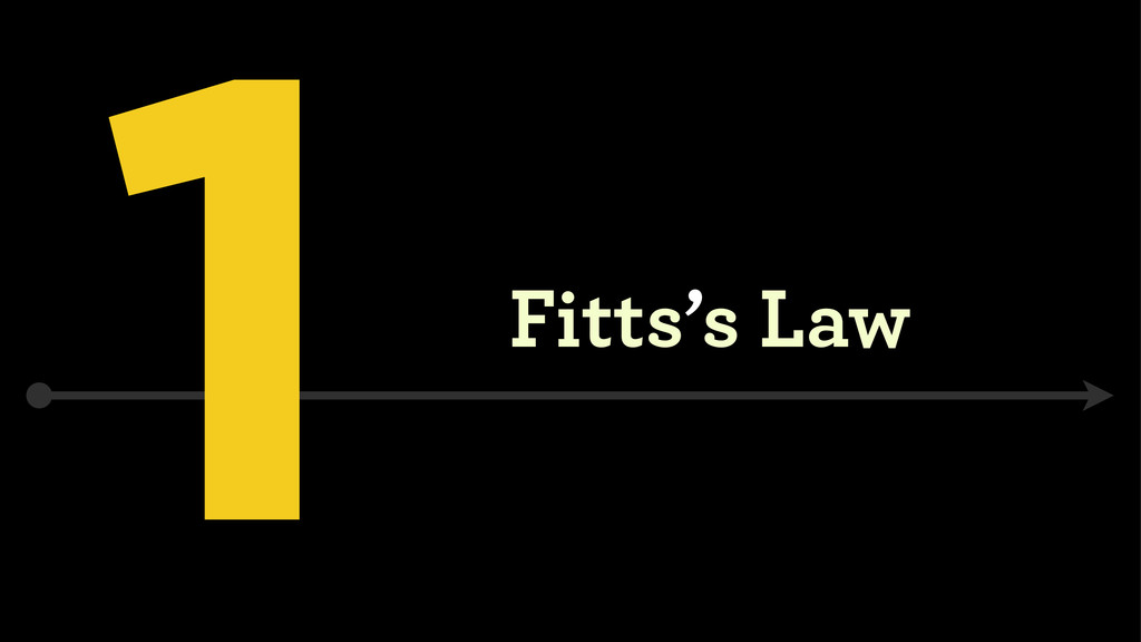 1 Fitts's Law