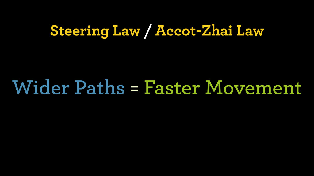 Steering Law / Accot-Zhai Law Wider Paths = Fas...