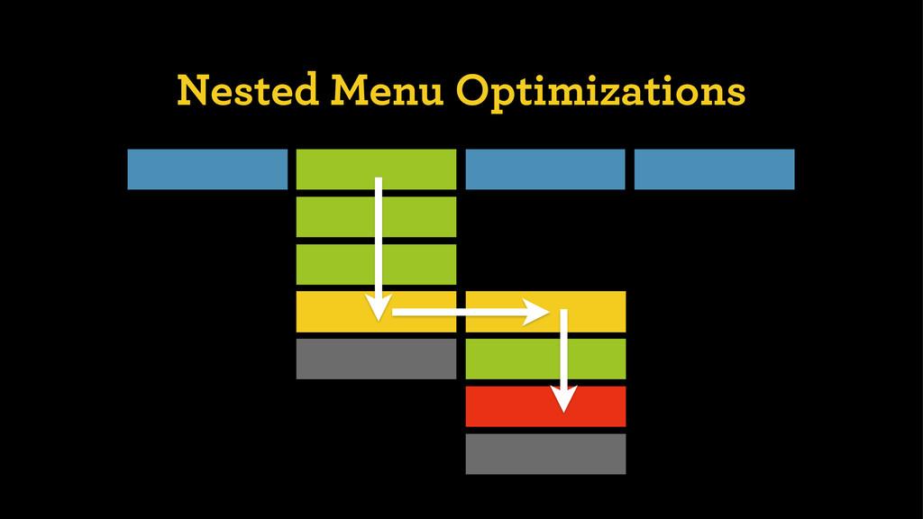 Nested Menu Optimizations