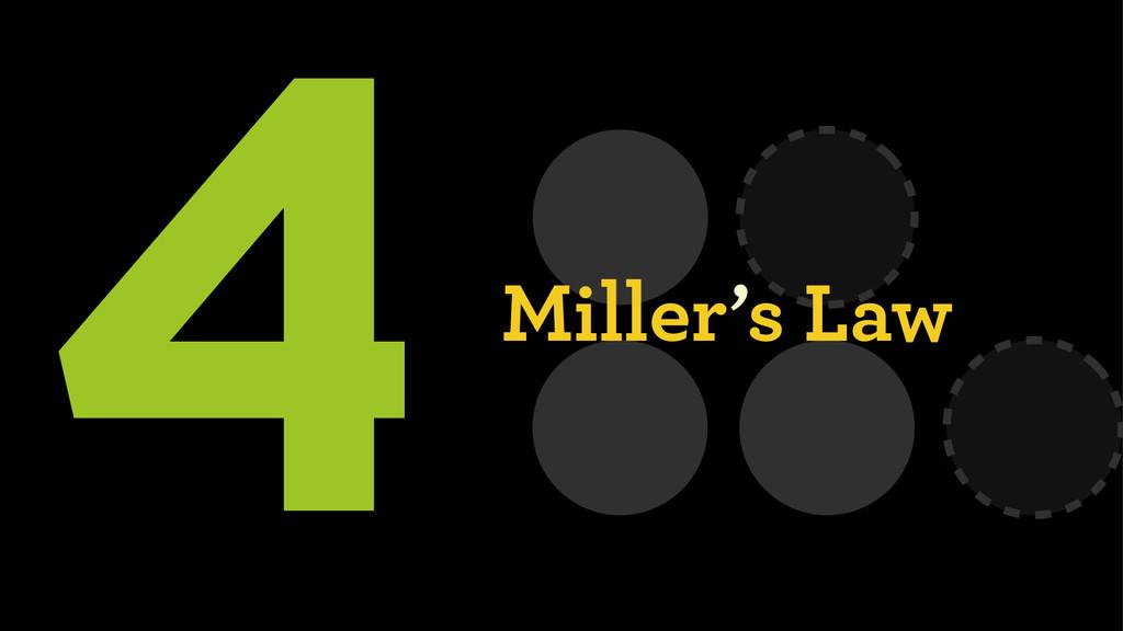 4Miller's Law