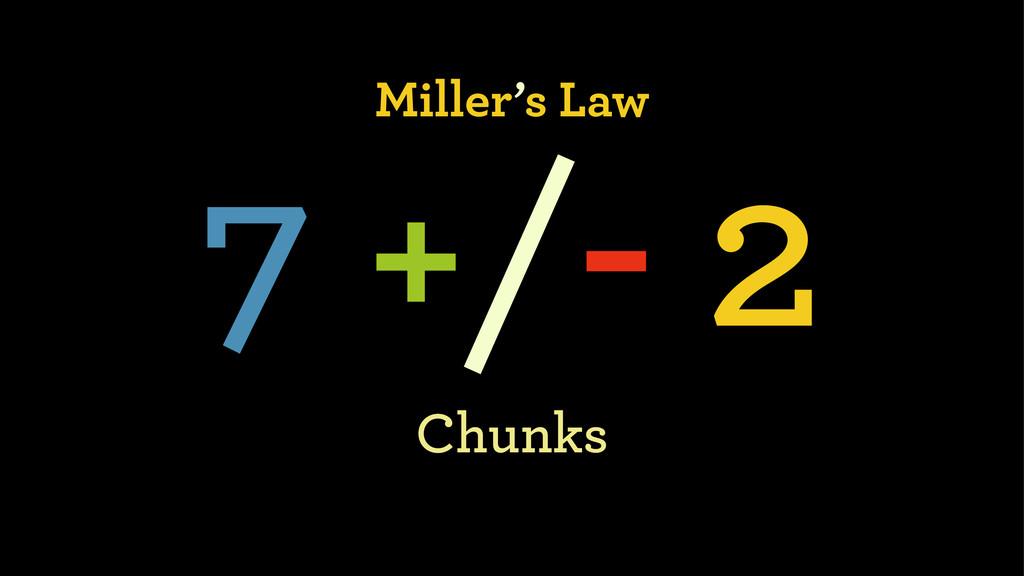 Miller's Law 7 +/- 2 Chunks