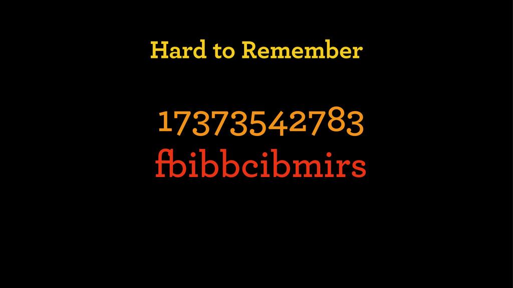 Hard to Remember 17373542783 fbibbcibmirs