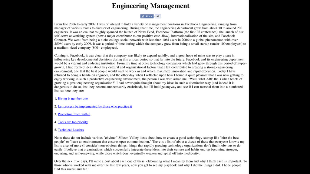 Engineering Management Share 93 From late 2006 ...