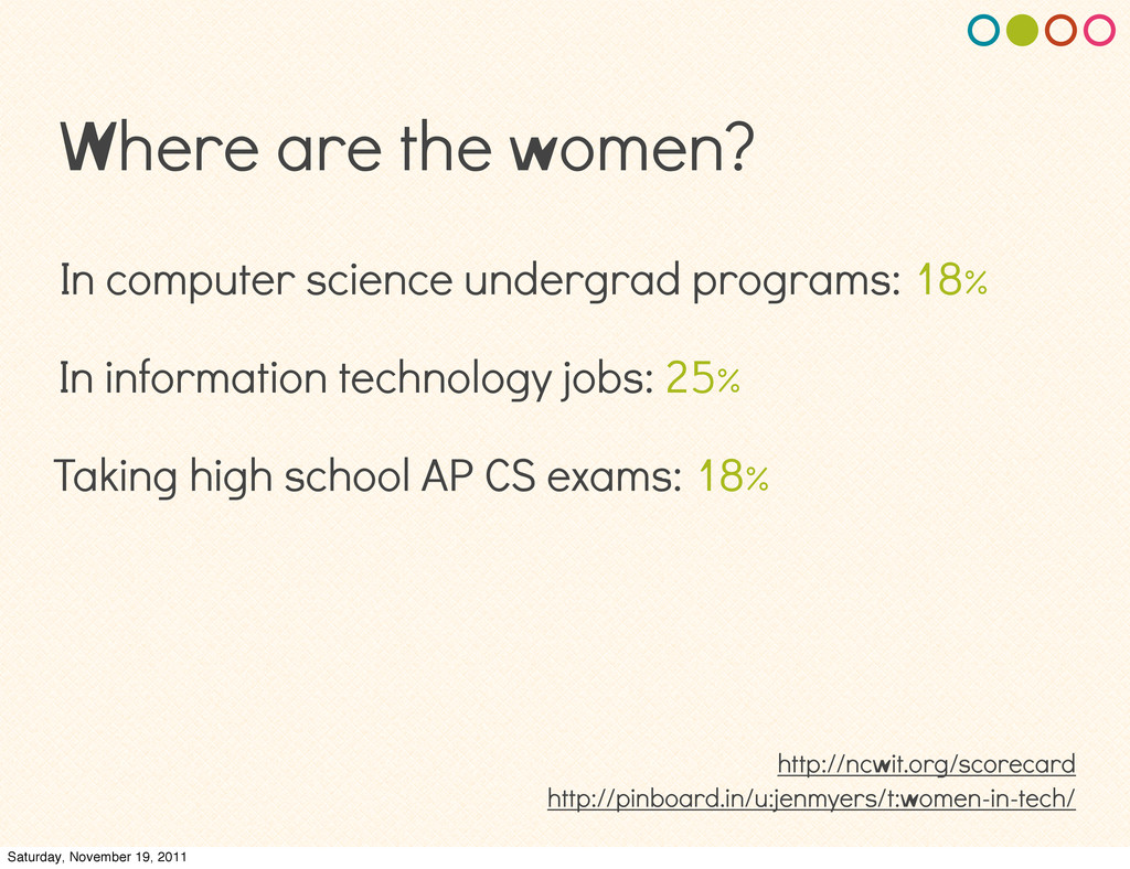 Where are the women? In information technology ...