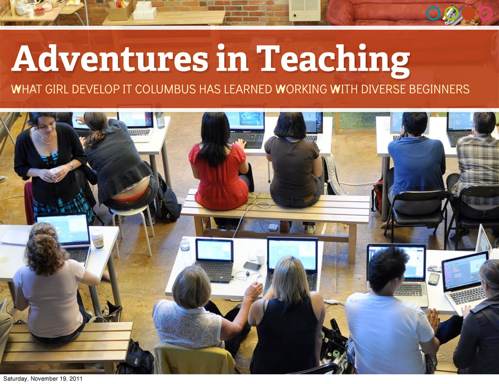 Adventures in Teaching WHAT GIRL DEVELOP IT COL...
