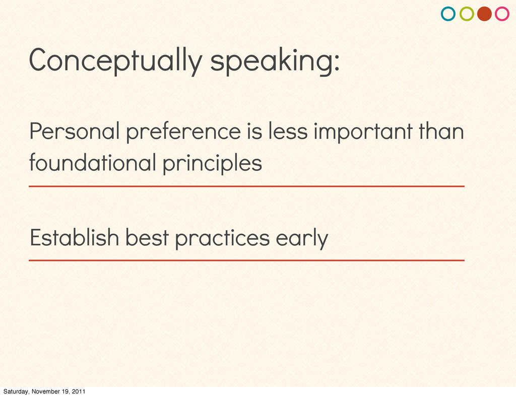 Conceptually speaking: Personal preference is l...
