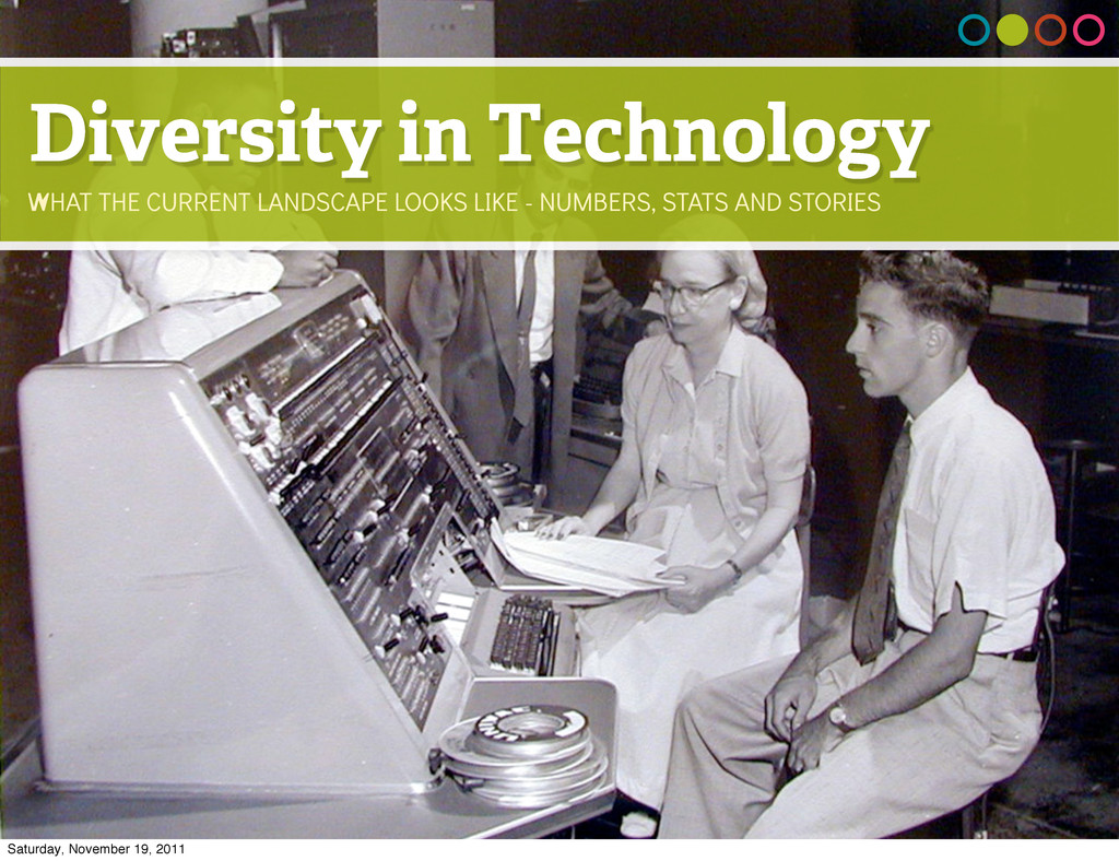 Diversity in Technology WHAT THE CURRENT LANDSC...