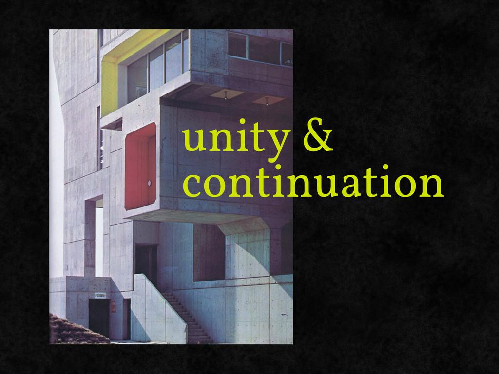 unity & continuation