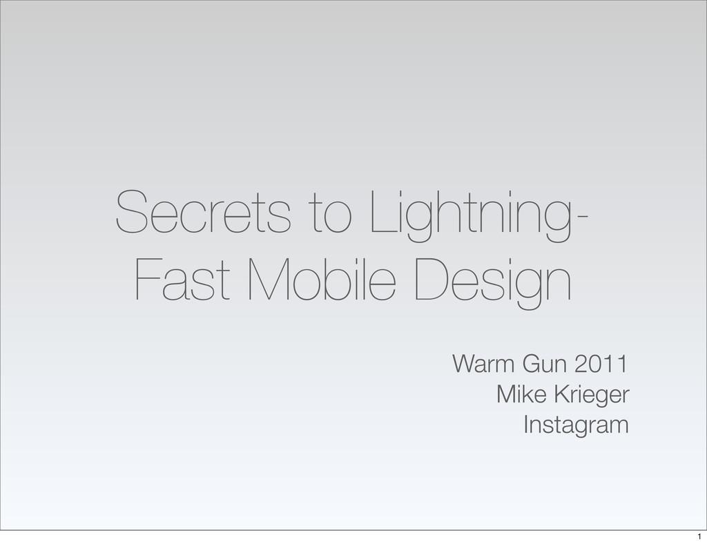 Secrets to Lightning- Fast Mobile Design Warm G...