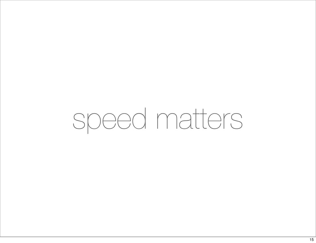 speed matters 15