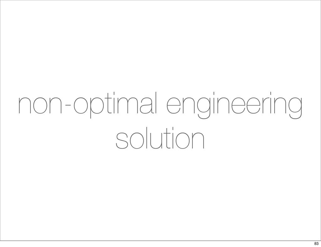 non-optimal engineering solution 83